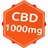 CBD olej kokosowy - 1000mg CBD - CBD Normal
